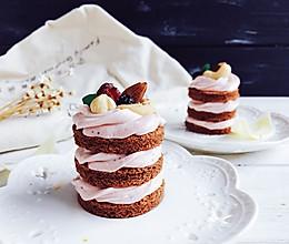 无粉巧克力草莓芝士蛋糕#丘比轻食厨艺大赛#的做法