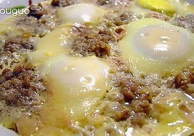 除夕美味肉馅蒸蛋