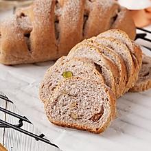 黑麦核桃面包,还带有点嚼劲哦!