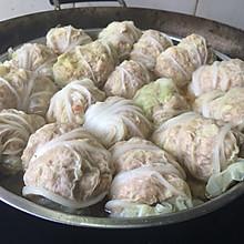 """白菜包虾米肉馅---农家菜""""虾包"""""""