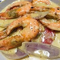 #一道菜表白豆果美食#芝士大虾的做法图解10