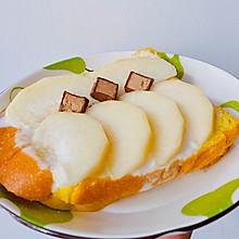 #尽享安心亲子食刻#水蜜桃酸奶吐司