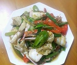 爆炒姜葱香辣蟹的做法