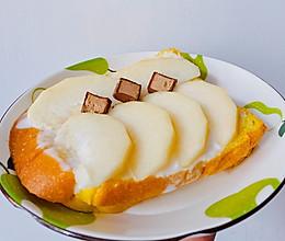 #尽享安心亲子食刻#水蜜桃酸奶吐司的做法