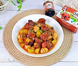 好吃到舔手指&红烧排骨炖土豆,酱香浓郁巨下饭的做法