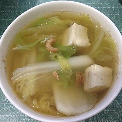 海米白菜豆腐汤