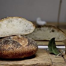 高水分法式乡村面包(无糖、手揉省时低温发酵)
