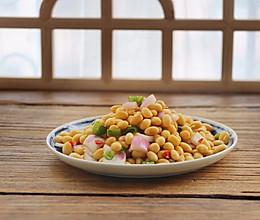 #秋天吃什么#【黄豆拌时蔬】的做法
