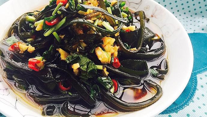 夏季必做开胃凉拌菜—酸辣海带丝