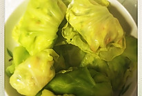 菜叶素菜包,减肥低卡~的做法