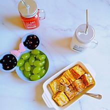 快手早餐~奶香浓郁夹心吐司小方/爆浆迷你西多士