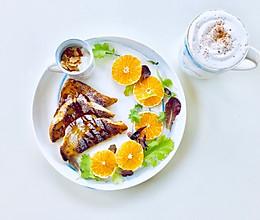 香橙法国吐司的早餐的做法