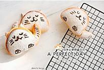 可爱猫--全麦蜂蜜面包(黑芝麻内馅哦)的做法