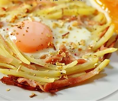 快手早餐—马铃薯火腿蛋