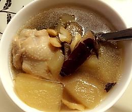 苹果花旗参鸡汤的做法