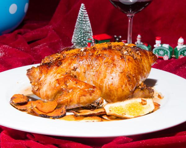 橙香烤鸡,3种家常配料就能做的做法