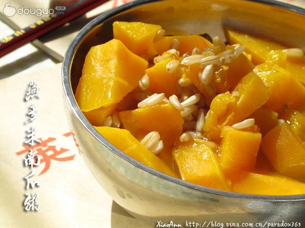 燕麦米南瓜粥: 养胃减肥两不误