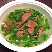 白菜猪肝汤的做法图解6