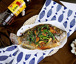 香煎罗非鱼#金龙鱼外婆乡小榨菜籽油 我要上春碗#的做法