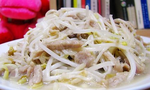 银芽金针炒肉丝的做法