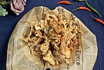 好吃到舔盘干炸椒盐蘑菇的做法