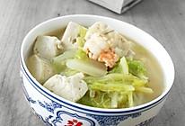 鲜虾白菜炖豆腐的做法