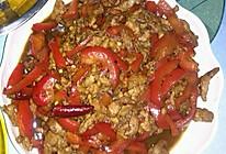 红椒炒肉丝的做法