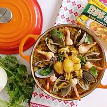 原锅咖喱海鲜焗饭#百梦多Lady咖喱#
