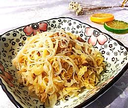 东北家常酸菜炒粉的做法