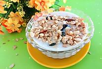 #合理膳食 营养健康进家庭#坚果燕麦香蕉奶昔的做法