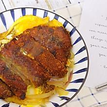 日式猪排饭(猪排丼),来大块吃肉!