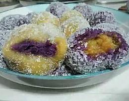 紫薯红薯糯米糍的做法