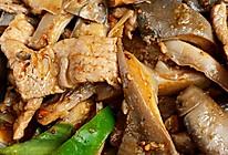 孜然蘑菇炒肉的做法