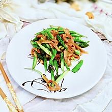 芦笋炒鸡腿菇片