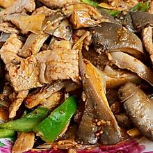 孜然蘑菇炒肉