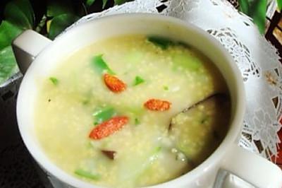 海参小米青菜粥