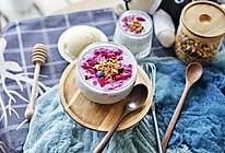 健康食谱|美艳动人的火龙果奇亚籽酸奶布丁#硬核菜谱制作人#的做法