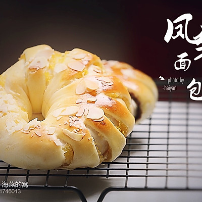 凤梨&豆沙面包卷