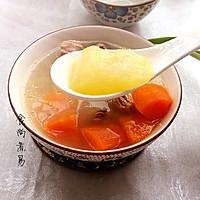 猪尾骨蚝干木瓜汤的做法图解13