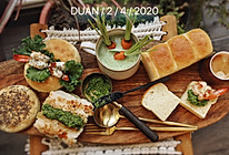 #换着花样吃早餐#青酱鱼排汉堡PK芥末虾球汉堡的做法