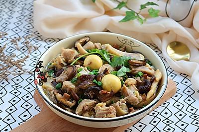 姜葱冬菇蒸滑鸡#厨此之外,锦享美味#