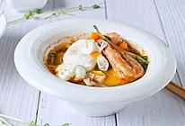 营养健康餐:海鲜味增汤南瓜面的做法