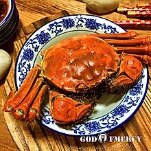 金秋美味清蒸螃蟹
