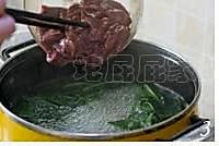 菠菜猪肝汤的做法图解3