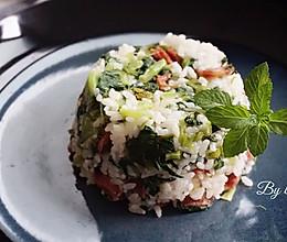 香肠菜饭#九阳铁釜4.0岂止于重#的做法