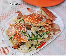 姜葱焗花蟹的做法