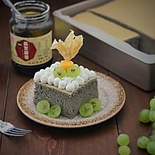黑芝麻水果奶油蛋糕:
