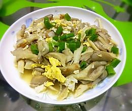 平菇炒鸡蛋的做法