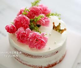 红丝绒鲜花裸蛋糕的做法