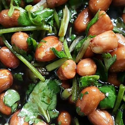 大年初一开胃小菜:醋拌花生米